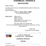 Assemblée générale 2016 invitation